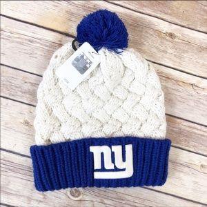 NWT NY GIANTS Knit HAT w/Free Ornament